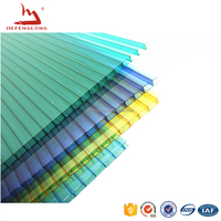 colored fire proof 8mm polycarbonate hollow sheets balcony roof cover