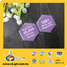 Customized plastic magnetic holder clip magnet with logo
