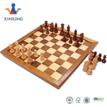 factory Customized luxury wooden metal folded chess set box with rubber band