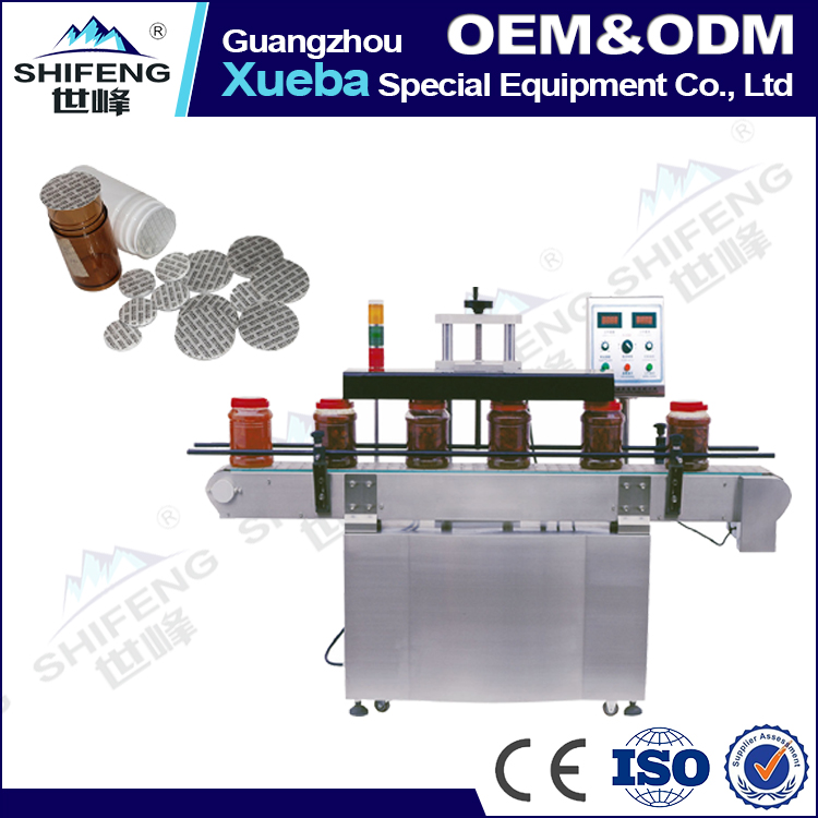 automatic induction PE PET PP film aluminum foil sealing machine for plastic bottle