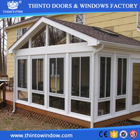 Popular style hot sale aluminum sunroom with windows