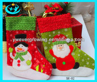 2013 Hot Sale christmas sock snowmen soft christmas stocking holder