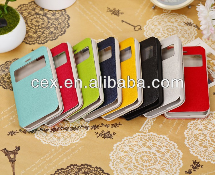 New View Design Flip PU Leather Skin Hard Plastic Back Case Cover for iPhone 5C