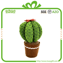 "7.5"" Customized indoor cactus fabric decorative artificial plant arts and craft decoration home decor made in China"