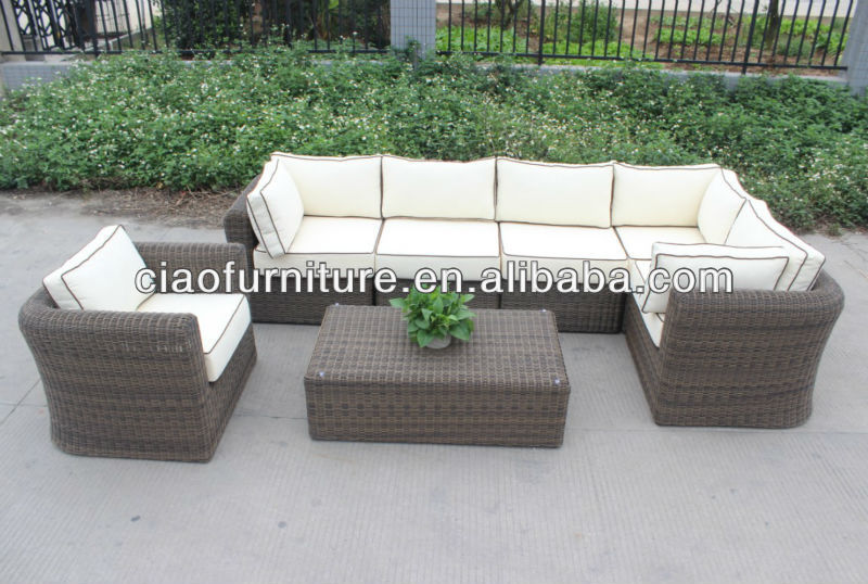 2013 new design livingroom wicker sofa and table