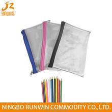 Strong Production Capacity Transparent Zipper lock Pvc Pencil bag