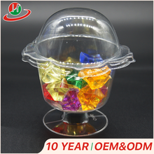 Promotion wholesale custom lotus flower shape clear mini plastic jelly cup with lid for ice cream