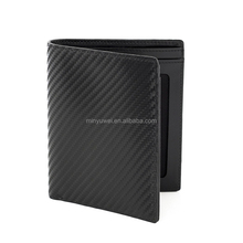 vertical design Real carbon fiber leather europe men wallet ultra thin