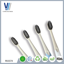 Wholesale Wheat Straw Travel Soft Bristle Clean Toothbrush bamboo