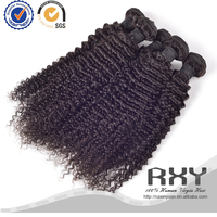 Unprocessed factioy price kinky curly 100 percent virgin malaysian hair weft