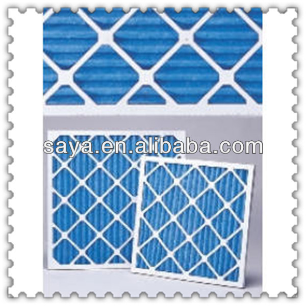 pre pleated g4 panel air filter with stainless steel Protective nets