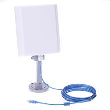 2000MW High Power Long Range150Mbps USB Wireless N WLAN WiFi Adapter Signal Booster with16dBi High Gain Antenna 5m Cable