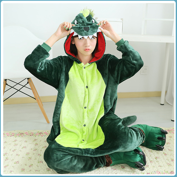 Hogift Plush Cosplay Dinosaur Animal Costume Pajamas