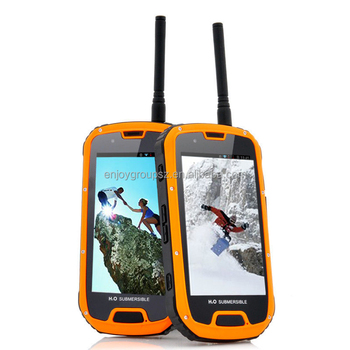 Cruiser S09 MTK6589 IP68 walkie-talkie GPS waterproof rugged phone with gps navigation