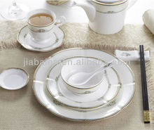 Eco friendly AB grade royal german porcelain dinnerware with high quality