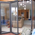 Latest designs front aluminum alloy glass folding door