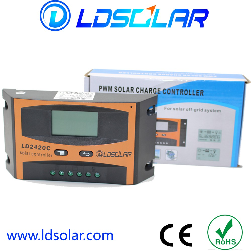 LDSOLAR 10A/20A 12V/24V PWM controller charger to solar battery with USB