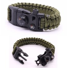 Wholesale Paracord Survival Bracelet 500 LB Hiking Gear Travelling Camping Gear Kit Paracord Bracelet Survival equipment