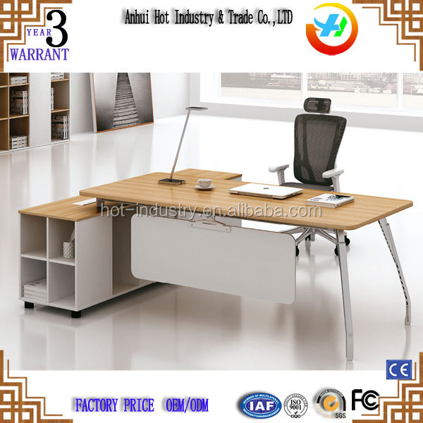 Modern L Shape Office Table Photos With Top Wooden MDF Manager Desk Office Executive