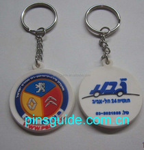 round shaped soft pvc keyring for promotion