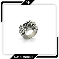 Latest fashion cheap cool skull Unisex stainless steel rings