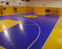Cheapest price PP click grid floor for basketball sports areas