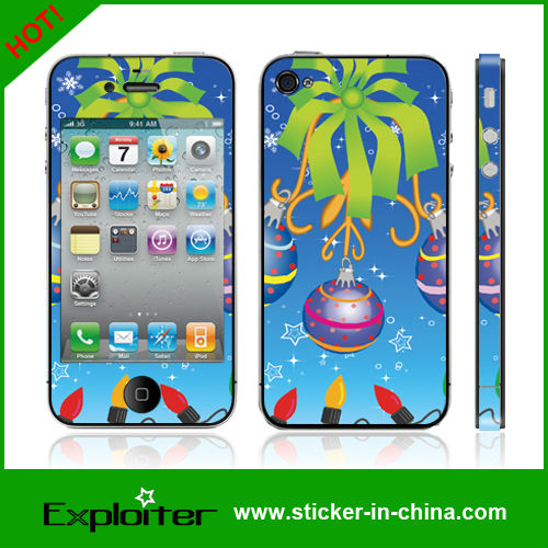 Merry Christmas skin sticker for mobile phone