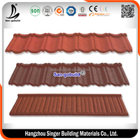 stone chips coated steel tile /Hangzhou building material /metal roofing price