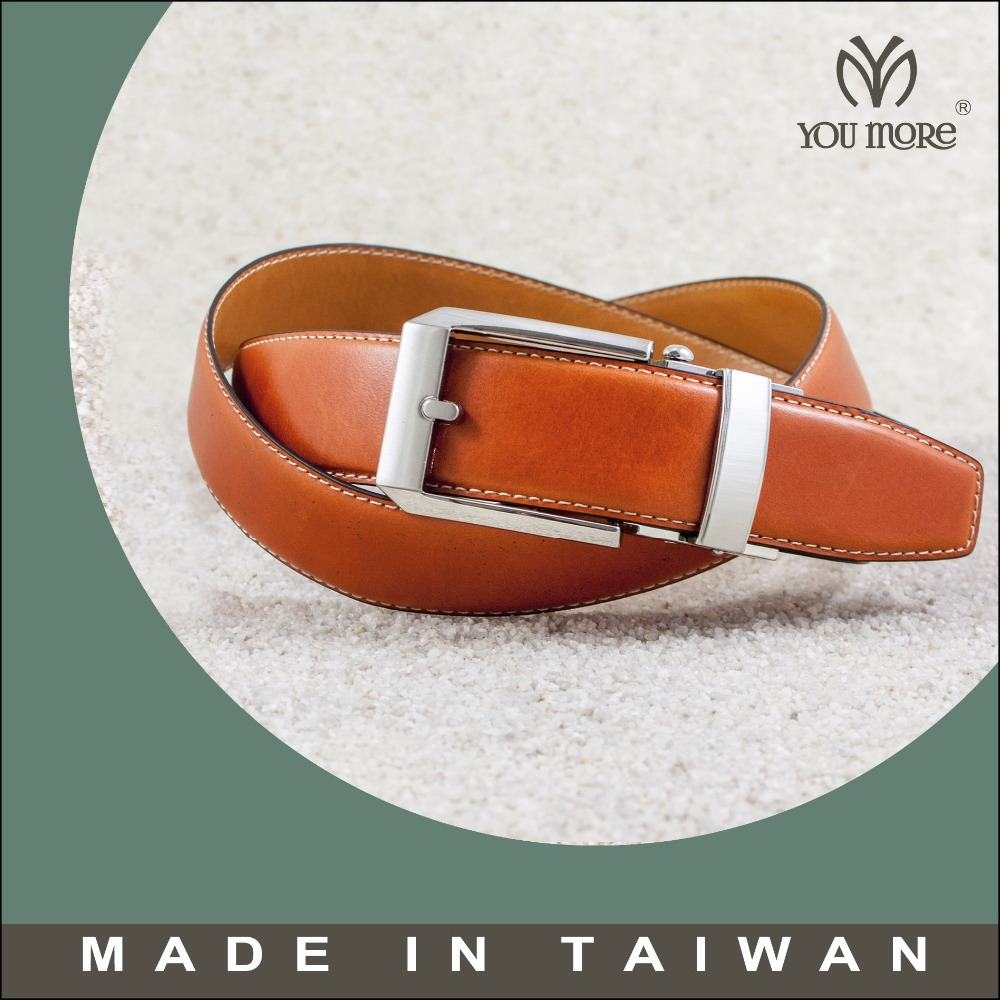 Taiwan design automatic pin buckle western orange studded belt