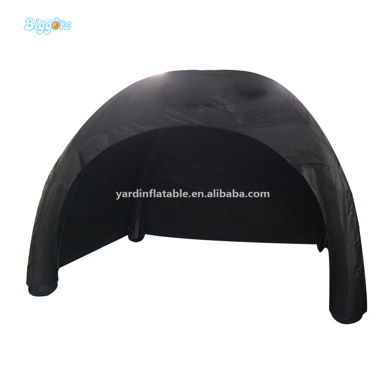 Large Black Inflatable Air Trade Show Tent With Customized Logo