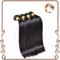 Top grade soft and smooth black 100% human virgin hair weft hair extension