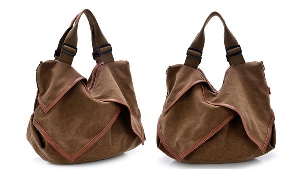 Fashion elegent lady hobo tote bags vintage weekend canvas shoulder handbags