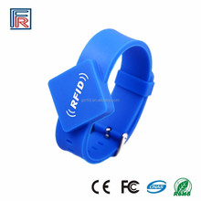 ISO18092 Silicone wristband NTAG213 Adjustable NFC rewriterable Bracelets