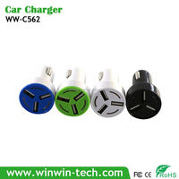 DC 5V 3.1A Universal Portable 3 Port Micro USB Car Charger for galaxy note 5 car charger