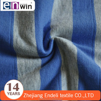100% 32s combed cotton and 20D spandex striped single jersey fabric