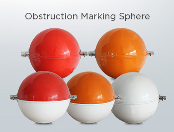 Powerline Marker/Aerial marker ball for transmission line/aircraft warning marker