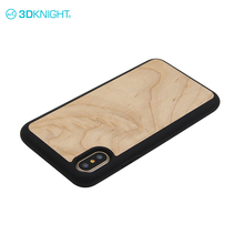 Real maple wood screne protector celphone cover case for iphone x plus case hybrid shockproof