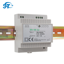 meanwell high quality 60W 12V plastic din rail led power supply for building automation and control of household application