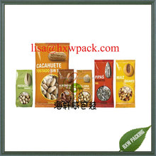 Peanuts snack food package,plastic peanuts food package pouch, salt cashew nuts stand up plastic pouch