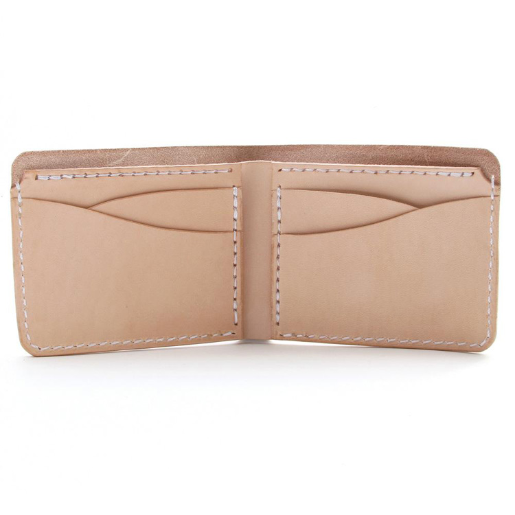 Classic billfold men wallet wholesale vegetable leather wallet custom design wallet for men