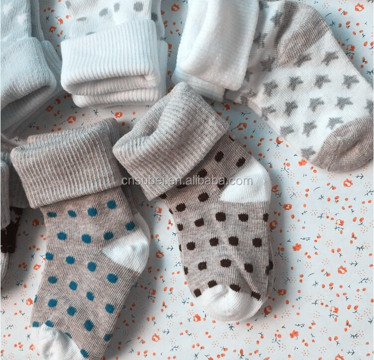 Turn cuff infant 100% organic cotton socks