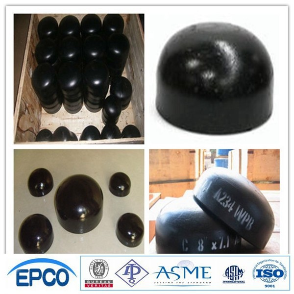 SS400 JIS 2311 standard butt welded steel pipe fitting end cap