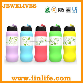 2015 christmas theme silicone water bottle design patent