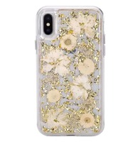 For iPhone X, NEW Crystal Soft TPU Cover for iPhone 8 plus, Flower Silicone Case for iPhone X