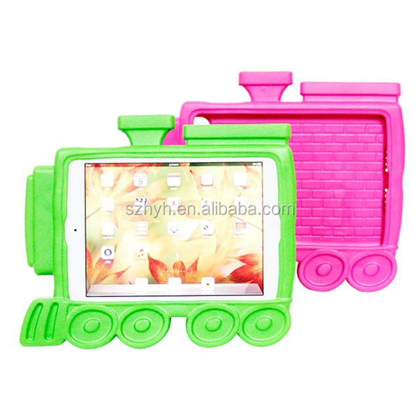 new arrival 8'' kids proof train shape EVA tablet cover EVA foam tablet case for ipad mini