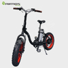 All Road sport style mini folding fat tire electric bike with mid drive crank motor