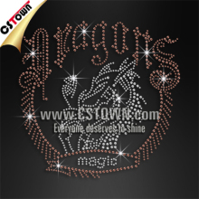 Wholesale custom rhinestone dragon hotfix tshirt transfer patterns