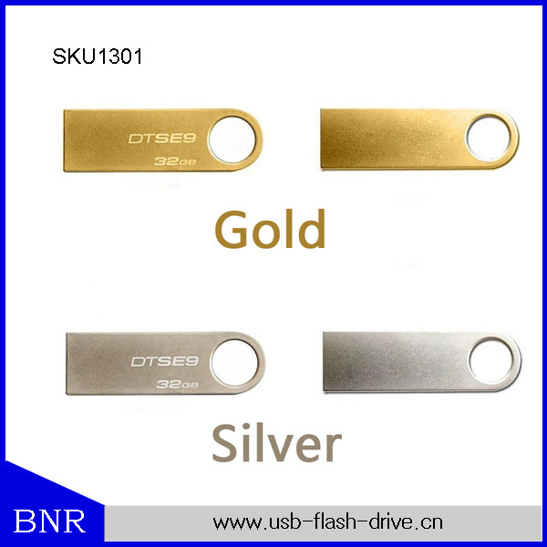 Metal Usb Flash Drive Silver Pen Drives 16GB U Disk pendrive rectangle memory stick