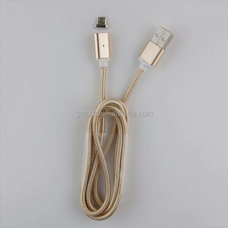 2.4A fast quick charging magnetic USB charging Cable for micro braided lines