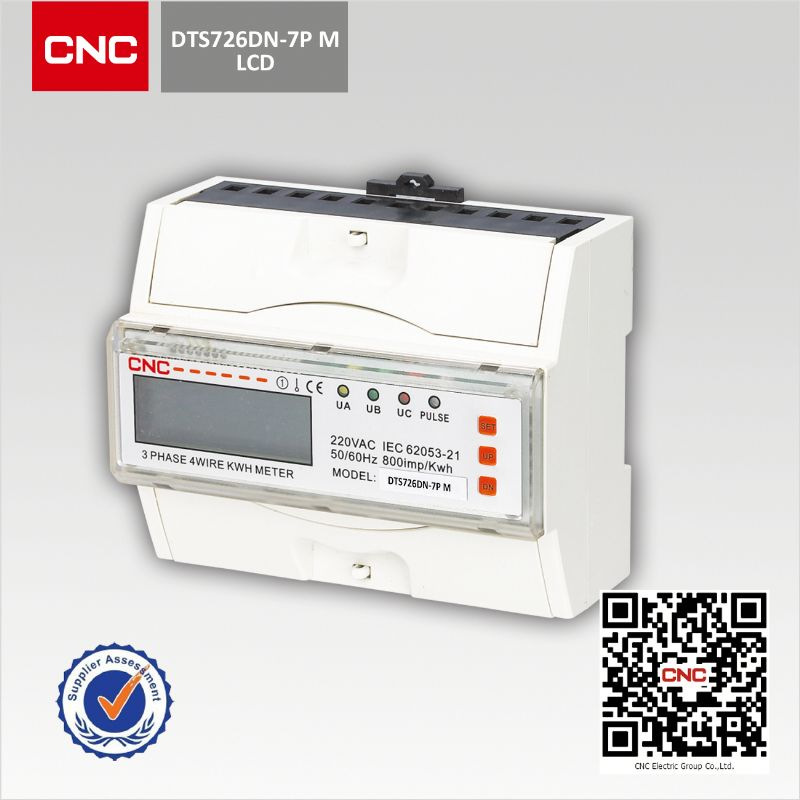 Measure current voltage frequency lcd electronic smart meter